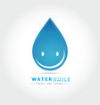 cartoon smile water drop character vector image vector image