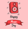 celebration of music day greeting card vector image vector image