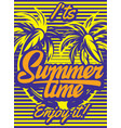 color poster for summer party with inscription vector image