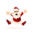 cool christmas santa claus vector image vector image