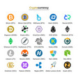 cryptocurrency badges vector image vector image