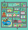 cute square road play mat for kids entertainment vector image vector image