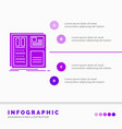 design grid interface layout ui infographics vector image vector image