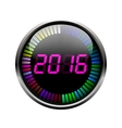 Digital year time art vector image vector image
