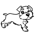 dog coloring book with white vector image vector image