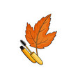 fashion pop art style autumn cosmeics sticker vector image