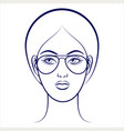 female face with glasses vector image vector image