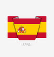 flag of spain flat icon waving flag with country vector image vector image