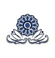 flower elegant icon initial q vector image