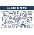 garbage removal set of ruined appliances and vector image