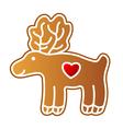 gingerbread elk vector image vector image