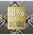 Golden black sale banner template in art deco vector image