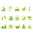 green color spa icons set vector image vector image