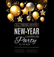 happy new year party poster template realistic vector image vector image