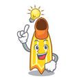 have an idea swim fin mascot cartoon vector image vector image