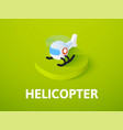 helicopter isometric icon isolated on color vector image vector image