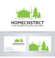 home construction logo design vector image