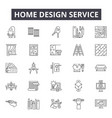home design service line icons signs set vector image vector image