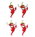 hot pepper set vector image vector image