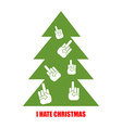 I hate Christmas Christmas tree for bad children vector image vector image