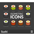 Isometric outline icons set 25 vector image vector image