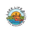 lake life logo design modern liquid dynamic style vector image vector image