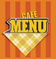 menu cards or cover design template cafe vector image vector image