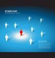 minimalist network 3d chart vector image vector image