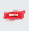 modern geometric trendy banner vector image