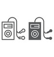 mp3 player line and glyph icon audio and sound vector image vector image