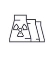 nuclear plant line icon sign vector image