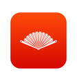opened oriental fan icon digital red vector image vector image