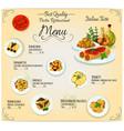 Pasta Italian cuisine restaurant menu vector image vector image