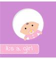 peek-a-boo bashower card its a girl vector image vector image
