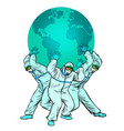 planet is held doctors concept the vector image vector image