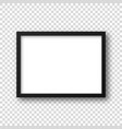 realistic picture frame isolated on transparent vector image