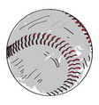 retro baseball ball vector image vector image