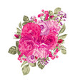 roses floral bouquet vector image vector image