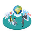save planet isometric concept lecture or vector image vector image