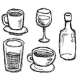 scribble series - drinks vector image vector image