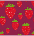 Seamless pattern with red strawberry