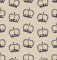 seamless wallpaper representing the crown vector image