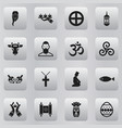 set of 16 editable faith icons includes symbols vector image