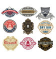 set of 9 logos or badges for packing vector image