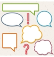 Set of colorful speech bubbles frames for you vector image
