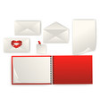 set of envelope and paper vector image vector image
