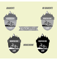 Set of mountain bike camping logo badge and banner vector image