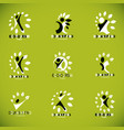 set of of excited abstract man with arms reaching vector image vector image