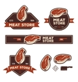 Set of retro labels badges emblems for meat store vector image vector image