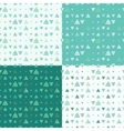 Set of seamless pattern of colored vector image vector image